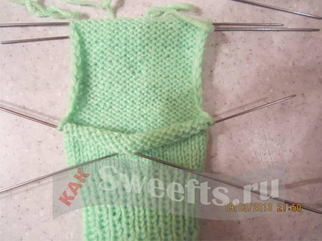 Связать носки спицами новичку 11_1