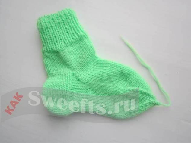 Связать носки спицами новичку 43_1