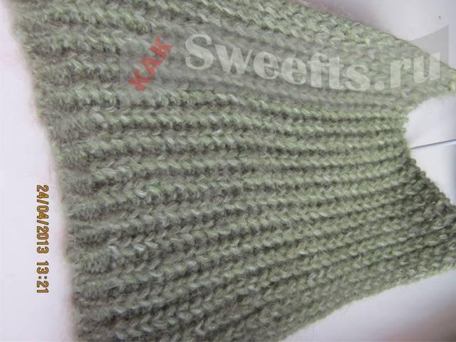 вязать шарф спицами 12