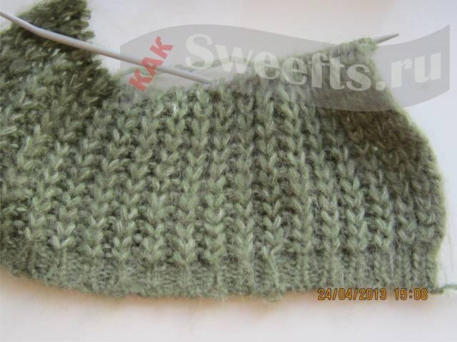 вязать шарф спицами 13