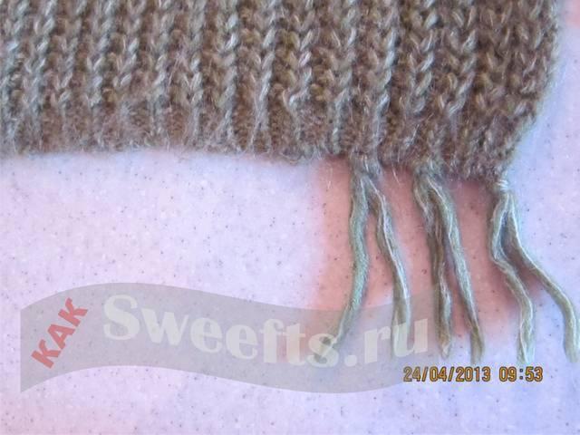 вязать шарф спицами 23