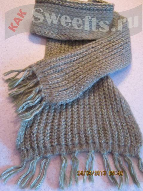 Как научиться вязать шарф спицами для начинающих? 60