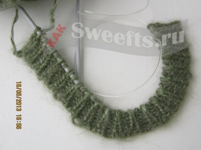 вязать шарф спицами 5
